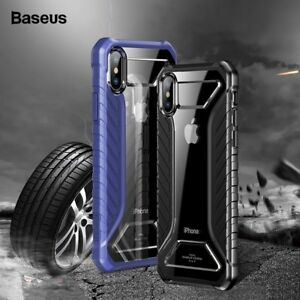 Baseus Tire Texture Case For iPhoneX Xs Max Xr Rugged Armor Soft Silicone Cover