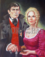 BARNABAS & ANGELIQUE COLLINS PORTRAIT ON CANVAS from DARK SHADOWS