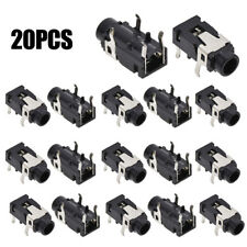 "20pcs PCB Panel Mount 4 Pin 1/8"" 3.5mm Female Socket Stereo Audio Headphone Jack"