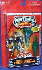 "Power Rangers Wild Force Deluxe 5"" Lunar Wolf Ranger New Factory Sealed 2002"