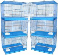 """Lot of 6 Blue Aviaries Canaries Budgies Finch Breeding Bird Cages 24x16x16""""H *47"""