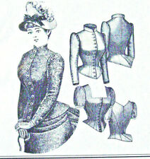 TV460 Sewing pattern 1885 Cuirass Bodice Blouse Truly Victorian reproduction