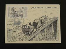 railroads rack train bridge commemorative card 1983