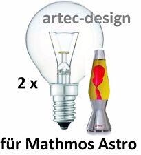 2 x Glühbirne Glühlampe Leuchtmittel für Lavalampe MATHMOS ASTRO 40W NEU + OVP