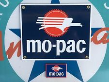 MO-PAC RAILROAD porcelain coated 18 gauge steel sign INCLUDES magnet