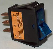 Calterm 12 VDC SPST On Off Red, Blue, Green, Amber Glow Rocker Switch Lot Of 4