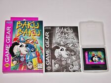 Baku Baku Complete in Box for Sega Game Gear CIB **TESTED & WORKS GREAT**