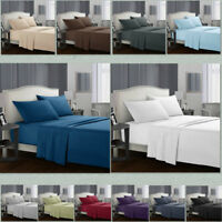 Egyptian Comfort 1800 Count 4 Piece Deep Pocket Bed Sheet Set Queen King Size