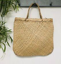 Eco shopper, straw shopping bag/tote . New