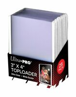 (25) Ultra-Pro White Border ACEO Toploaders 3x4 Topload Art Trading Card Holders