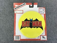 Vintage 1989 Batman Dark Knight Gotham Buttongrams Button | Crabwalk | New NOS