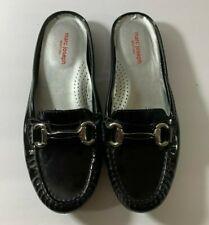 Marc Joseph Women's Black Patent Leather Mules Sz 7.5