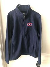 Montreal Canadians Women's 2XL Knit Full Zip Sweatshirt New Nhl GIII Hockey