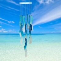 WOODSTOCK CHIMES NEW FOR 7/18 - Sea Glass Chime - Blue Waves - SGBW