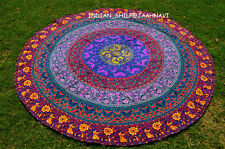 Round Tapestries Tablecloth Handmade Mandala 100% Cotton Yoga Bech Wall Hangings