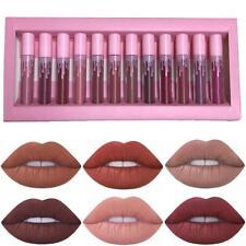 12Pcs Matte Lipstick Set Long Lasting Velvet Tint Lip Gloss Cosmetic Makeup Good