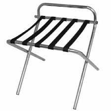 More details for bolero rounded luggage rack suitcase with nylon straps - stainless steel