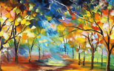 """Abstract Art Colourful wall art printed on canvas 20'' X 30"""" solid frame"""