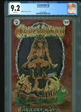 Cavewoman #2 CGC 9.2 (1994) Basement Comics Budd Root White Pages