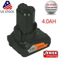 12 Volt 4.0AH Max Lithium Battery for Ridgid R82059 AC82059 12V High Capacity US