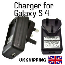 Travel Desktop Wall Dock UK Plug Battery Charger 4 Samsung Galaxy S4 i9500/i9505