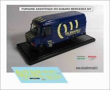 DECALS 1/43 VAN SERVICE ASSISTENZA SUBARU 555 RALLY TEAM MERCEDES 507