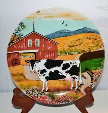 American Folk Art Mark Chicago Wall Plate Farm Decor Dairy Cow Gift  8""