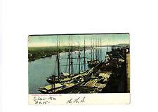 SAVANNAH GA, SHIPPING LUMBER, UNDIVIDED BACK 1908  POSTCARD #8753
