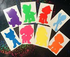 Paw Patrol Vinyl Decals x 8  for Drinks Bottles, Lunch Boxes, Mobil's, Glasses,