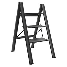 More details for home workshop 3 tier multipurpose slip proof folding step ladder aluminium uk