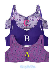 """US """"Comfort Choice"""" 100% Cotton Wire-Free Full Coverage Lightweight Bras"""