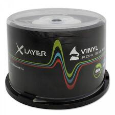 XLayer CD-R Vinyl Black 50Stk. Bedruckbar 700Mb 80Min Ink Printable 50er Spindel
