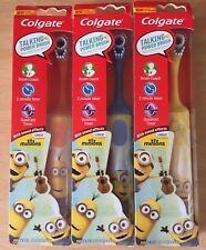 3x Colgate Minions Battery Powered Kids Children Toothbrush