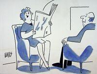 [ Humor - Presse ] Guy Valls - Horoskop Der Paar - Zeichnung Original
