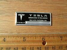 Tesla Metal Display Plaque Model Diecast 1/18 1/43 S X P85 P100D 3 Roadster