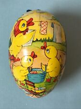 """Paper Mache Vintage Easter Chicks Chickens Egg Made in East Germany Gdr 4.5"""""""