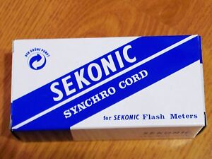 SEKONIC Synchro Cord 3 Plugs (Meter, Camera, Flash) SYNC Cord JL2B New F/S