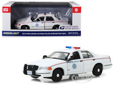 2010 FORD CROWN VICTORIA POSTAL POLICE USPS WHITE 1/43 DIECAST GREENLIGHT 86523