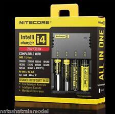 Nitecore i4 Caricabatteria per batterie Li-Ioni Ni-MH Ni-Cd 18650 26650 Digi-i4