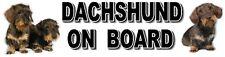 DACHSHUND ON BOARD (Wirehaired) Dog Car Sticker By Starprint