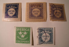 Lot Sweden old private issue stamp mint used