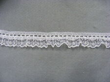 Gathered Lace & Eyelet White Single Sided 30mm wide  x 5 mts (SS720)