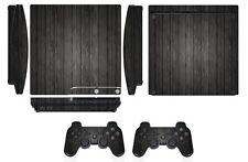 Skin Sticker Cover for PS3 PlayStation 3 Slim and 2 controller skins Wood Q267