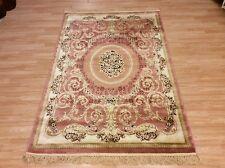 Medium Silk Like Traditional Oriental Design Rug Pastel Pink 120x180cm 60 off