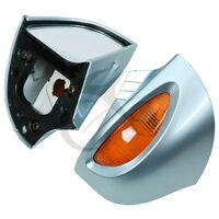 Pair Rear View Mirrors Amber Turn Signal For BMW R1100 RT R1100 RTP R1150 RT