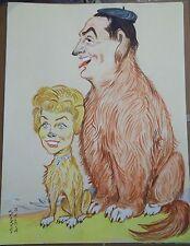 """Georges Bastia caricature Souplex Sourza l'album """"Le Zoo des Vedettes"""" P1032bis"""