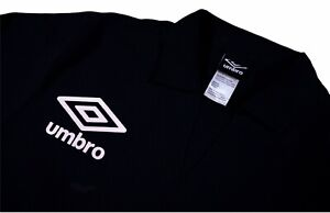 New $80 Umbro Mens Drill Pullover Jacket Sweatshirt Men's Black Medium Soccer