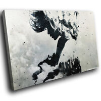 AB224 Black White Grunge Modern Abstract Canvas Wall Art Large Picture Prints