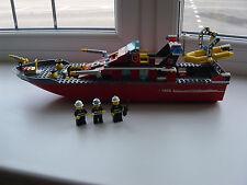Lego City Town 7906 Fire Boat  With 3 Firemen Minifigures 100% Complete