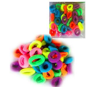 40 Kids Hair Bobbles Mini Hairband Tie Elastic Stretchy Scrunchy Ponytail Rubber